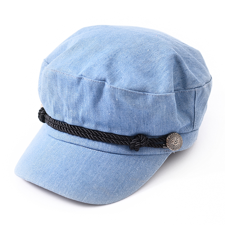 Lady Plain Peaked Cap Army <strong>Hat</strong> customized Lined with sweat bandy Baseball Cap