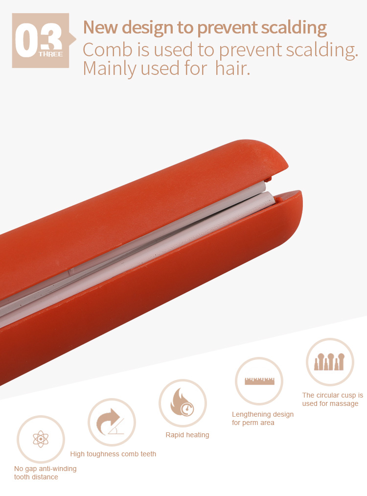 Best selling mini ceramic fast hair straightener with lock function