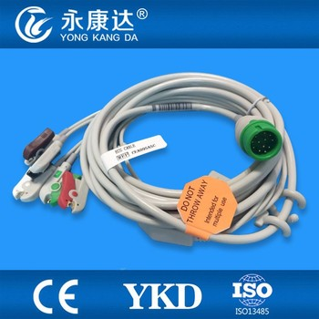 New style,Compatible to COMEN C60 one piece 5leads Ecg Cable for patient monitor.