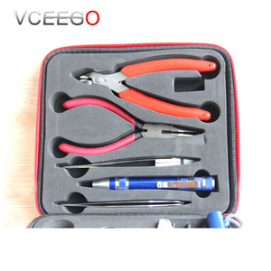2017 Large stock electronic cigarette DIY vape tool sets coil jig tool kit for rda rba