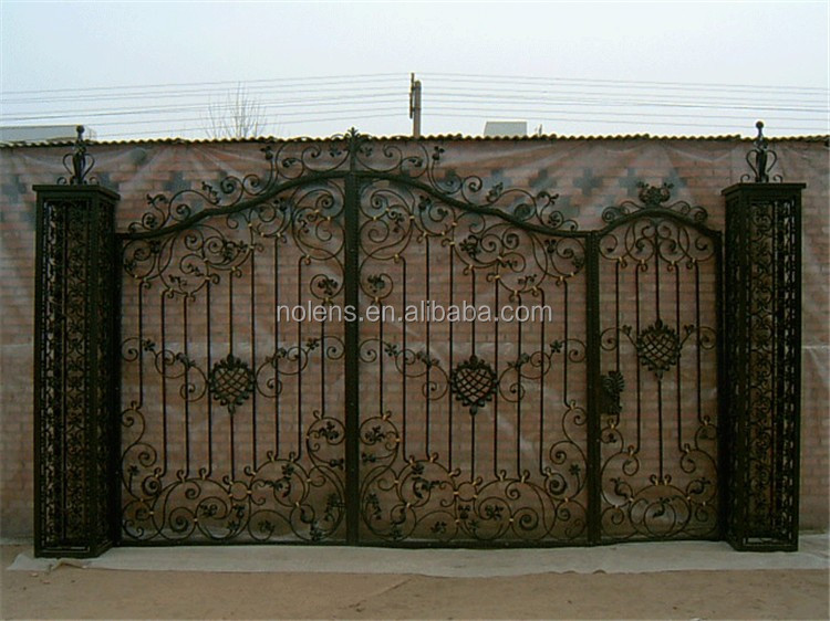 Factory beautiful wrought iron fancy gates buy gate