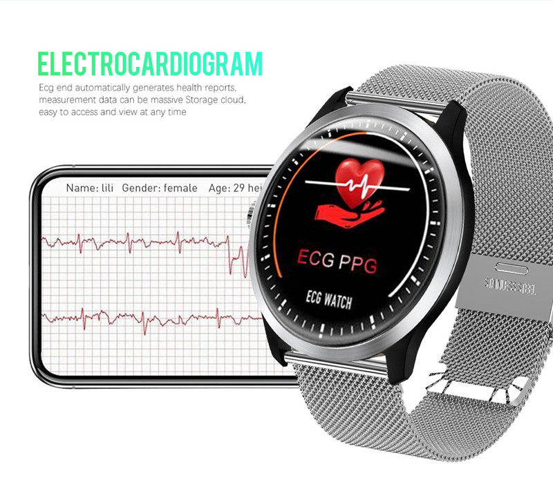 New N58 ECG PPG Heart Rate Chart Sport IP67 Waterproof Heart