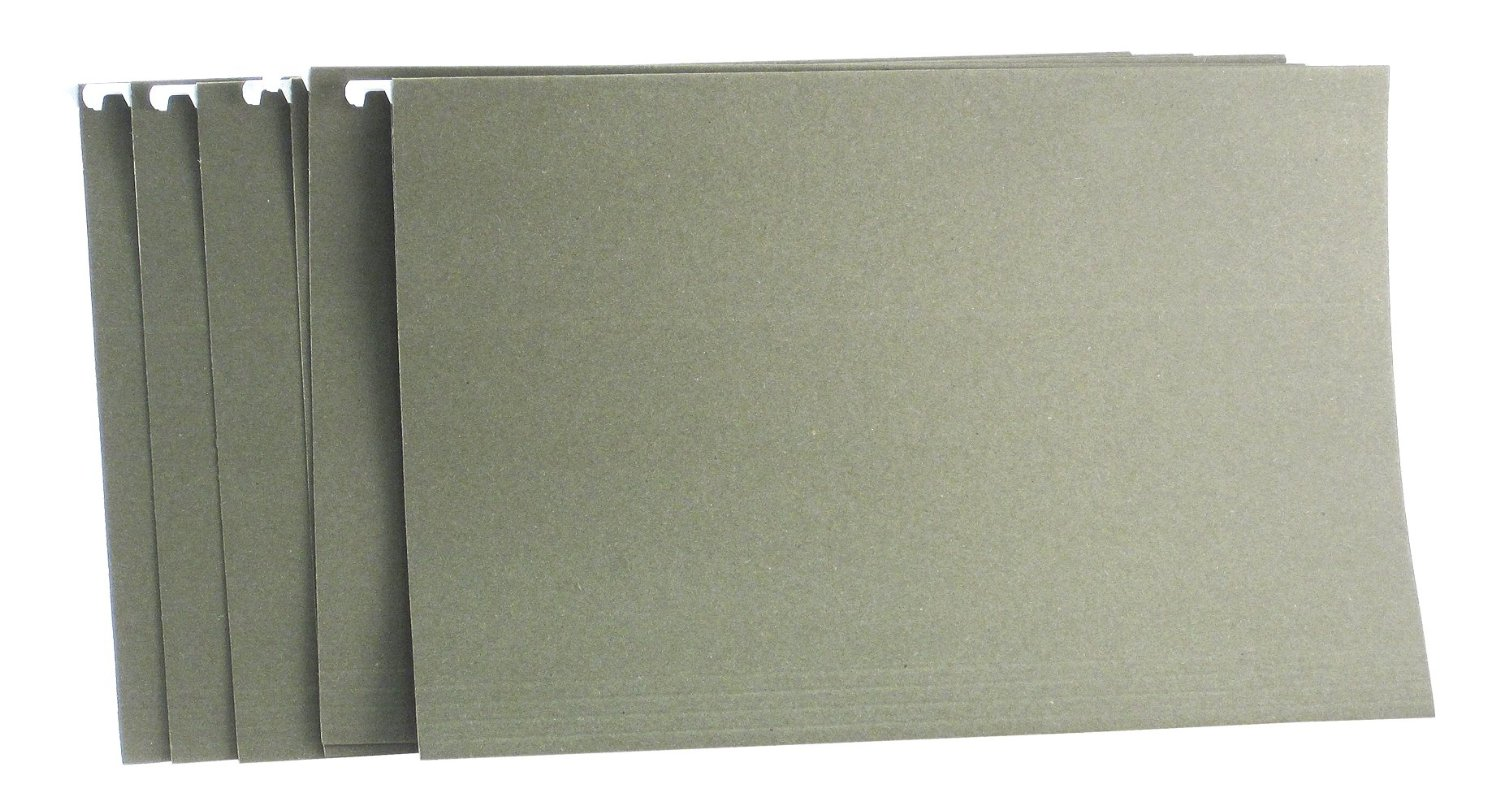 Saunders US-Works Hanging File Folder, Legal Size, No Tab, Green, Pack of 25 (34766)