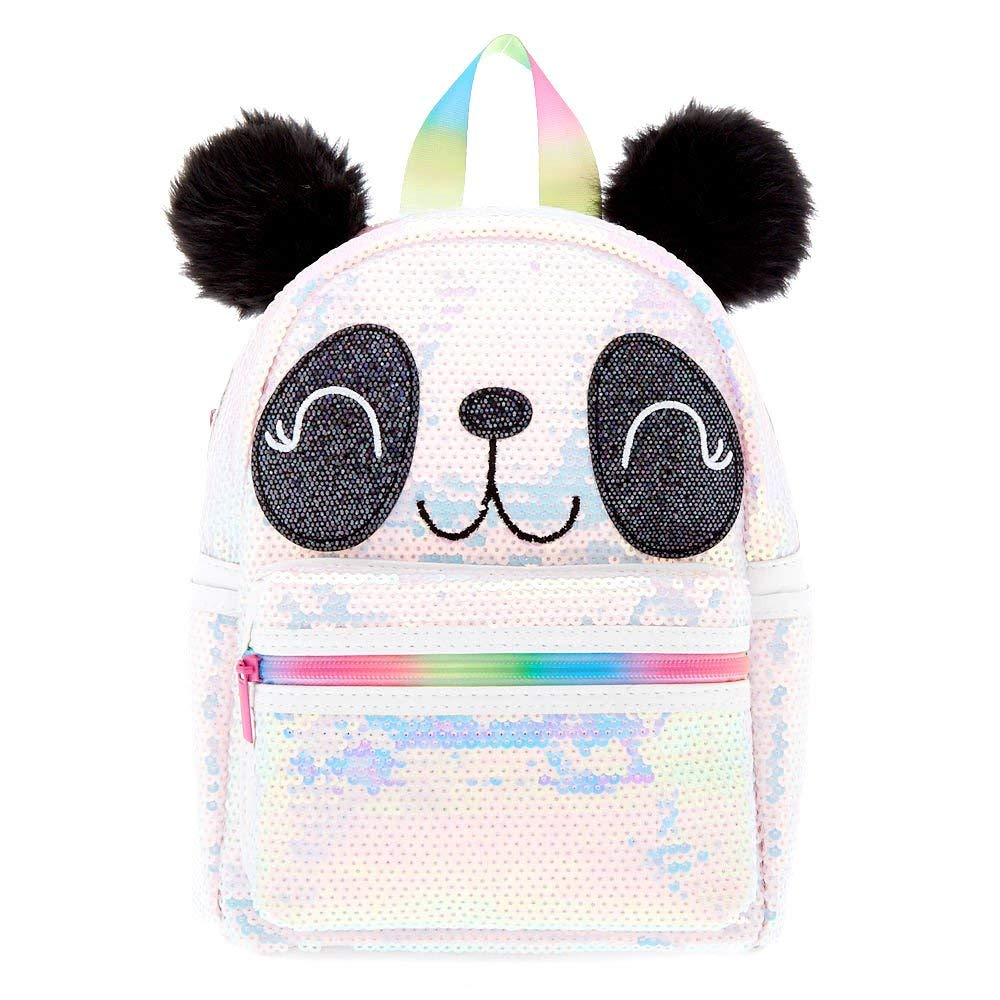 Claire's Girl's Panda Face Sequin Backpack - M