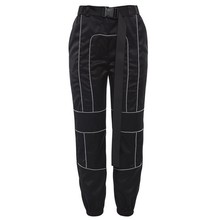 X87778B spring loose <strong>design</strong> lady reflective <strong>pants</strong> <strong>women</strong> sexy casual cargo <strong>pants</strong>