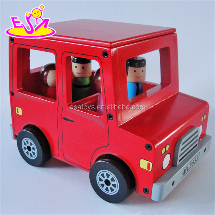 New Design Red Funny Wooden Toy Cars