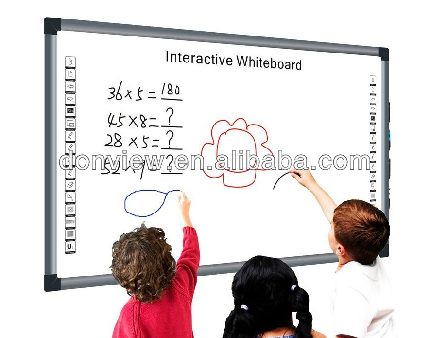 "China Goedkope Smart Klasse IR Dual pen tv interactieve whiteboard 85 ""Met Smart Pen Lade, meertalige software"