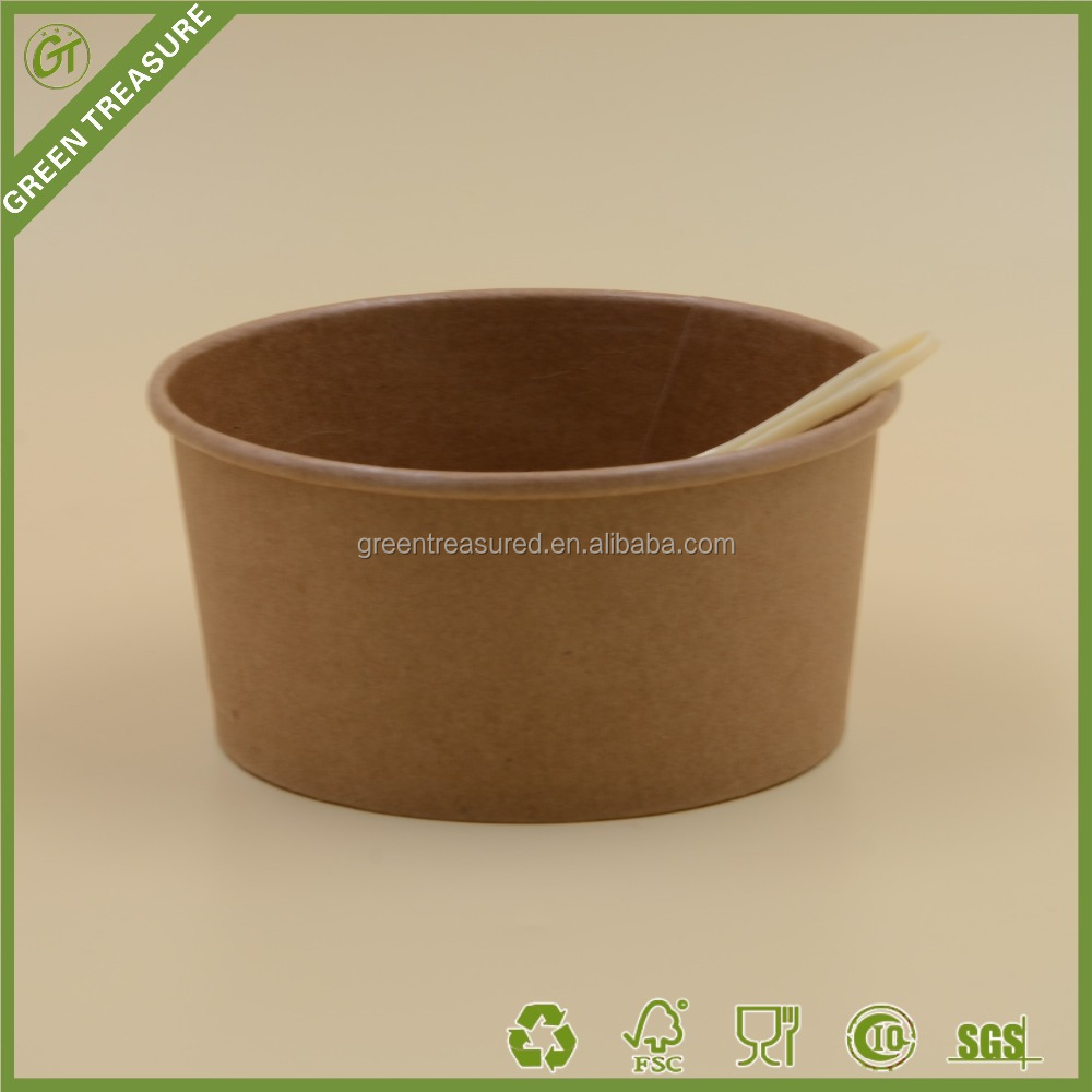 Great ice cream cup, biodegradable container, Kraft paper ice cream tube