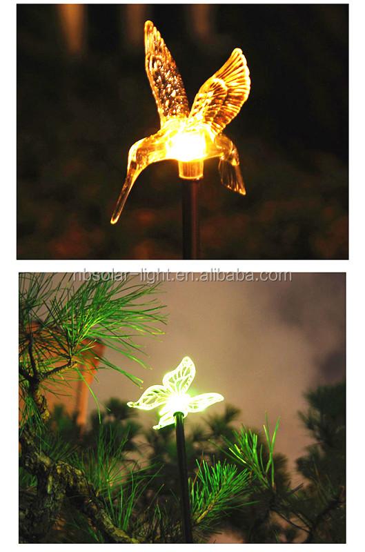 Multi Colored Solar Garden Lights/solar Lights Animal Hummingbird