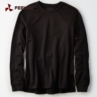OEM black new model men shirt long sleeve wholesale t shirts