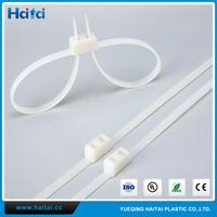 Haitai Free Samples SGS ROHS Disposable White Nylon Durable Police Handcuffs
