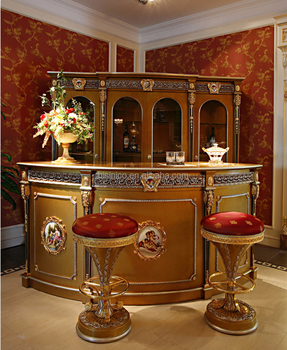 Luxury French Louis Xv Style Golden Bar Furniture European Clic Corner Mini Antique
