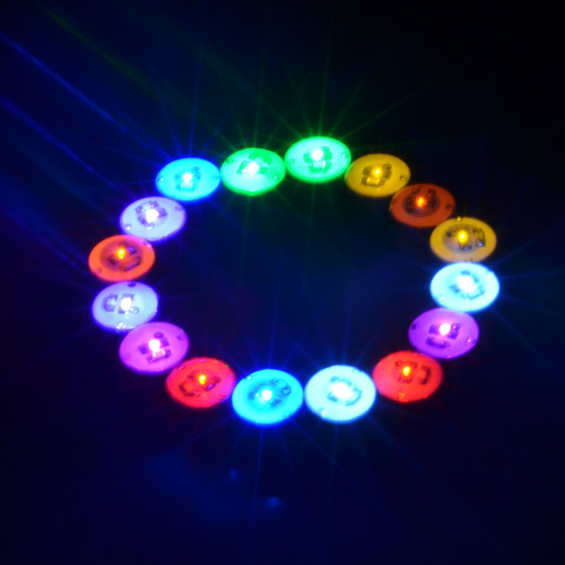 party round shape flashing light up led earring