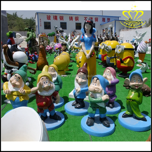 Children's playground resin sculpture cartoon fairy tale Snow White and the Seven Dwarfs