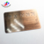 Double Side Printing Custom Plastic Bar Code Brushed Metal Copper Business Card
