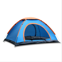Outdoor china large cheap fast waterproof beach pop up automatic family camping tent with pop up tent poles