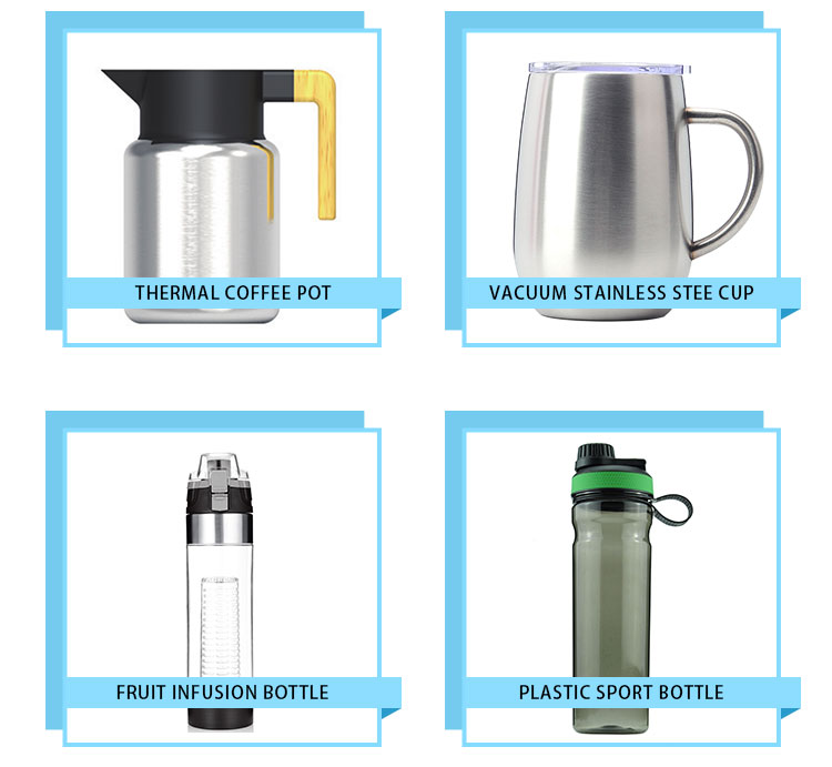 1000ml big capacity single wall stainless steel water bottle with different type lid