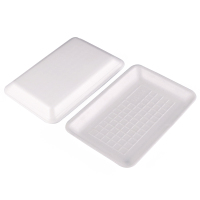 Disposable food grade foam tray ps material supermarket frozen seafood meat food trays package party or wedding plate