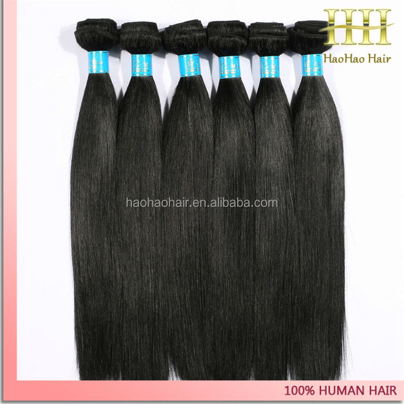 28 inch 6a unprocessed human hair weft hair extension virgin brazilian remy hair