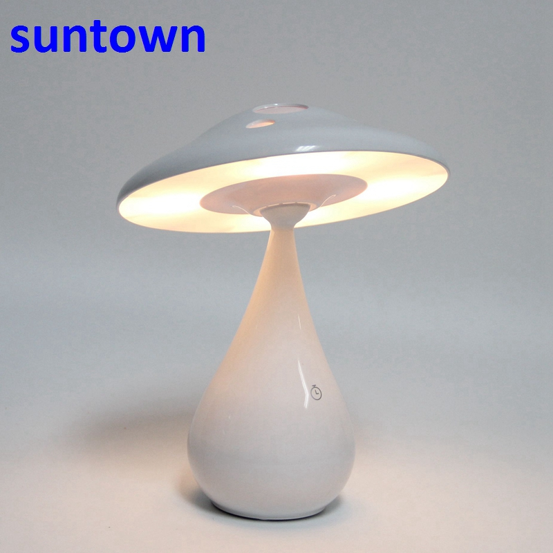 2018 New LED Desk Lamp Rotating Mushroom Night Light