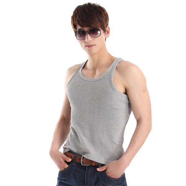 Men Wholesale Waffle Tank Top