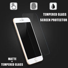 2017 promotion 2.5D Ultra clear matte fabric Anti-oil screen protector tempered glass for Iphone 6 / 6s plus