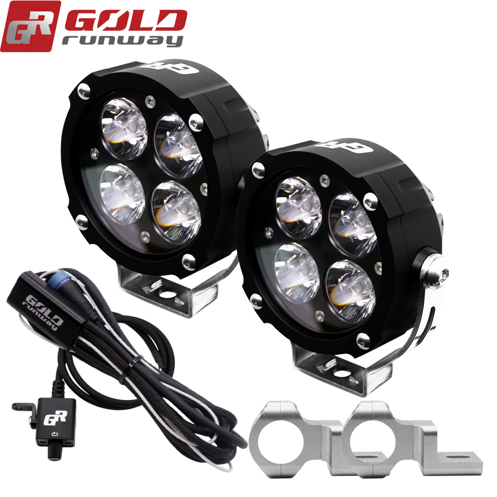 GoldRunway Motorcycle lights universal 42w fog lamp led u3 motorcycle led driving fog head spotlight