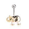 Elephant Navel Belly Rings 14G Navel Body Piercing Jewelry