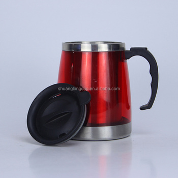 500 Ml Wide Bottom Coffee Mugs Funny Mug With Stainless Steel Product On Alibaba