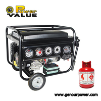 Home Use China 2kva 2.5kva 2.8kva 3kva 4kva 5kva 6kva Natural Gas Generator Prices For Sale With Tire Kit