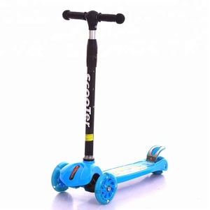 new model kid toys PU flash wheel adjustable with light and music baby foot scooter