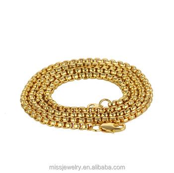 Saudi Gold Jewelry Hot Sale Box Chain 5 Gram Mens Gold Chain Models