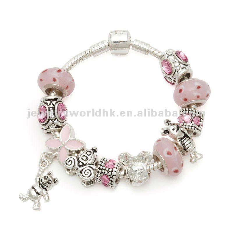 Beautiful Silver Beads Gl Kid Bracelets