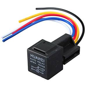 New Black 12V 30/40 Amp Car Auto Relay With Wiring Harness And Socket by Bcn