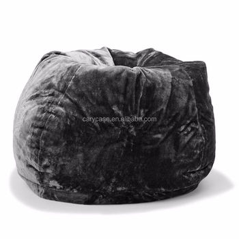 Wondrous Large Oversize Tear Drop Shape Bean Bag Skin Cover Black Faux Fur 3L Capacity Buy Faux Raccoon Fur Beanbag Faux Fox Fur Bean Bag Acrylic Faux Fur Evergreenethics Interior Chair Design Evergreenethicsorg