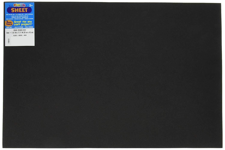 Bulk Buy: Darice Foamies Foam Sheet Black 3mm thick 12 x 18 inches (10-Pack) 1184-51