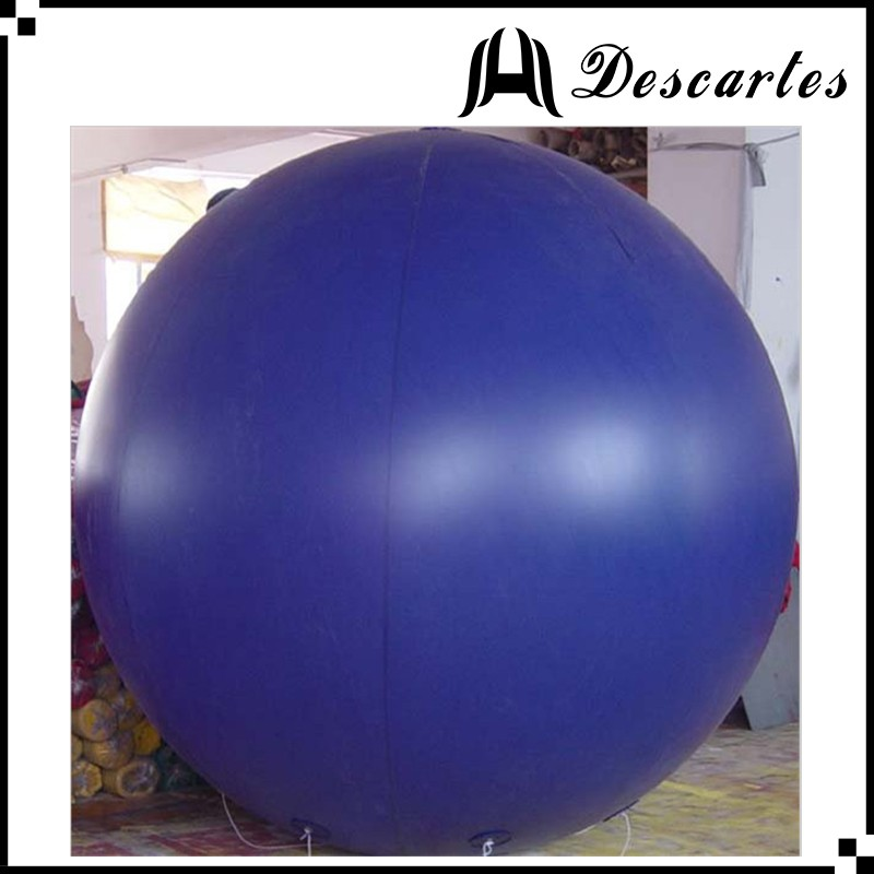 Purple 3m diameter large custom flying balloon/inflatable floating sky balloon