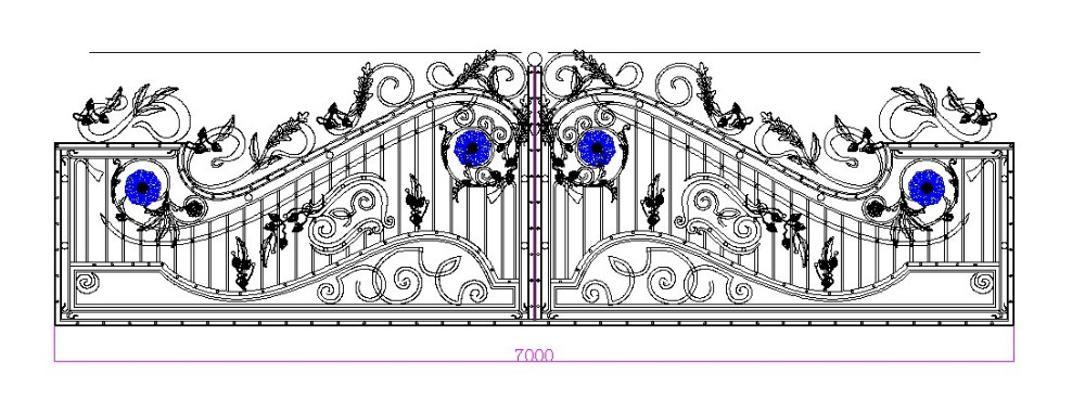 2016 Latest Cheap Price Different House Main Gate Design Simple ...
