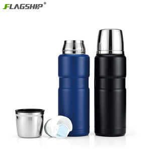 500ML 750ML 1000ML High Quality 18/8 Stainless Interior 304 Stainless Steel Bullet Flask Double Wall Vacuum Thermos