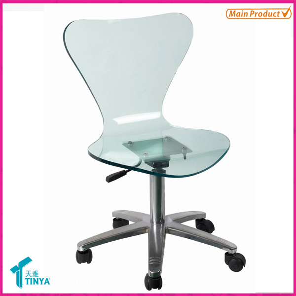 New Products Furniture Manufacturer Wholesale Modern Furniture Clear Desk Chair Blue Acrylic Chair Clear Acrylic Office Chair