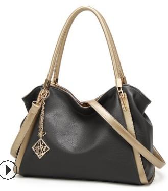 Повседневная Большая вместительная женская сумка через плечо, кожаная дамская сумка-ведро, сумка-мессенджер, мягкая сумка через плечо для п...(Китай)