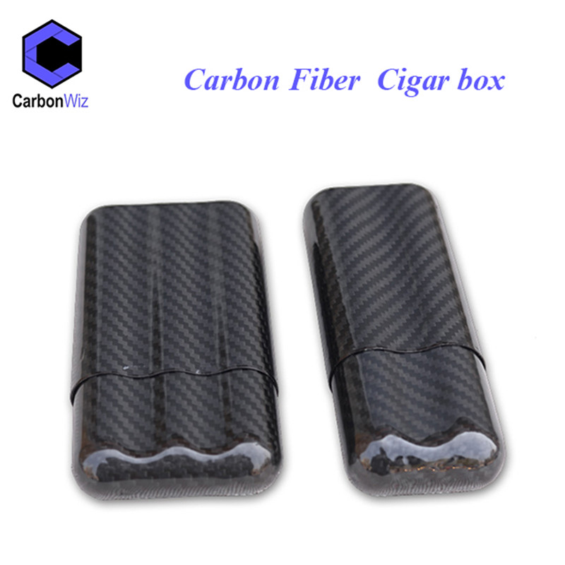 Wholesale 3k glossy carbon fiber cigar case/ empty cigar box for men