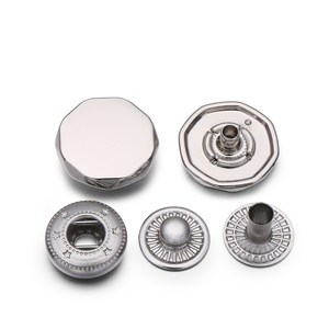 High Quality Zinc Alloy Gold Flat Press Metal Snap Fastener Button