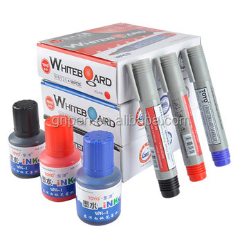 Non Toxic Whiteboard Pen Dry Erase Marker Ink Refillable Whiteboard