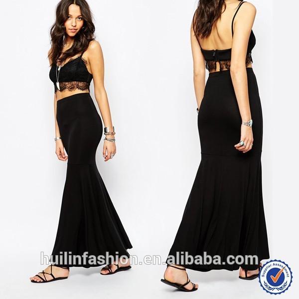 Latest Elegant Ladies Skirts And Blouse Design Lace Long Sleeve ...
