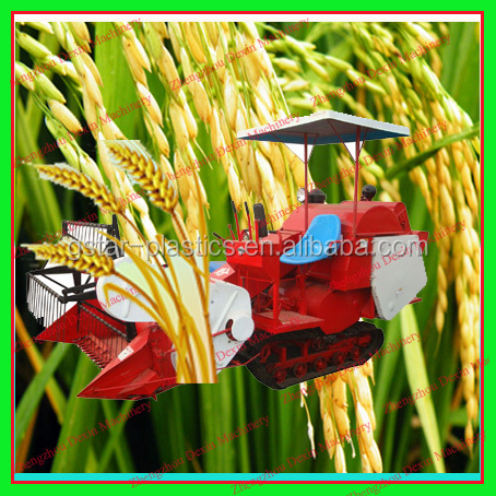 Wholesale High Quality SMALL Wheat Rice Combines Harvester 4LZ-1.0 Crawler Track Combines