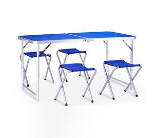 Wholesale Extendable Aluminum Extendable Outdoor Heights Adjustable Portable Folding Dining Camping Picnic Table