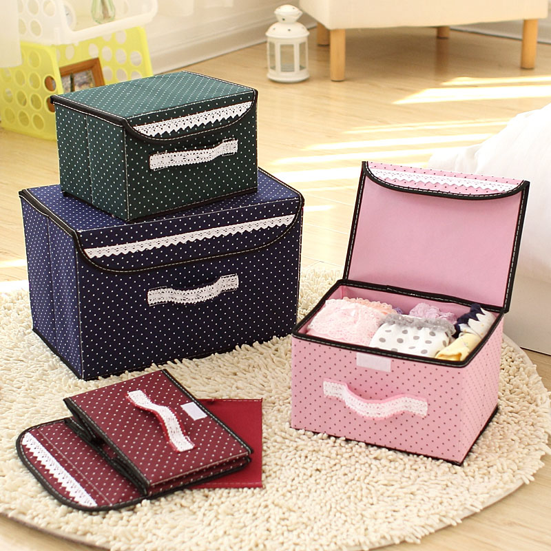 Home and Decortive non-woven folding hat storage box