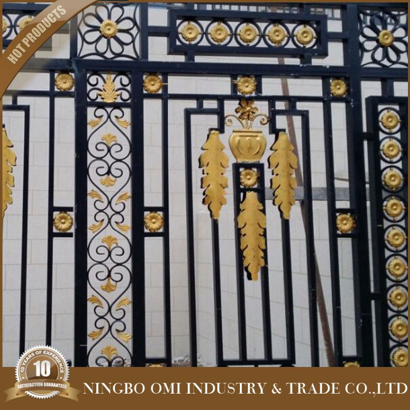 ornametal steel grills fence design/wholesaler cheap used wrought iron fence panels for sale