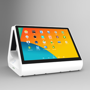 Unique design POS system 12.1+9-inch touchscreen POS machine, Gc082 custom pos display